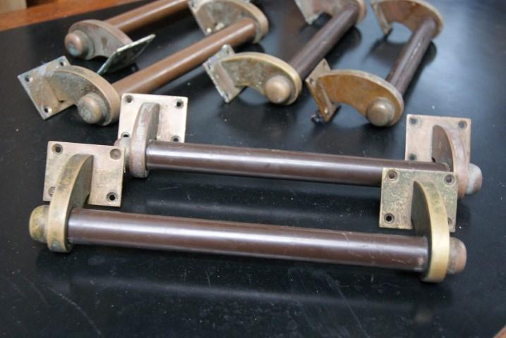 Art deco brass bakelite pull handles for 1930s brass door handles