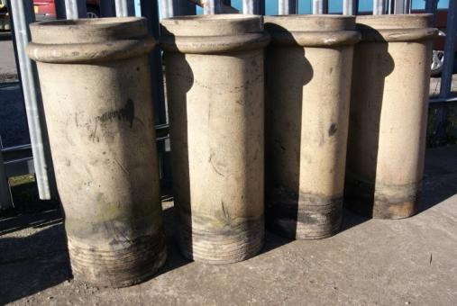Chimney Construction Materials : Buff cylindrical chimney pots